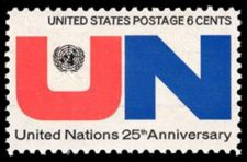 Buy 1970 6c United Nations, 25th Anniversary Scott 1419 Mint F/VF NH