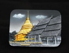 Buy 3D SCULPTURE FRIDGE MAGNET MEMORIAL WAT PHRA THAT LAMPANG LUANG THAI COLLECTIBLE