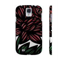 Buy Parler Red Green Flowers Samsung Galaxy S4 Phone Case