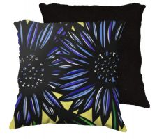 Buy 22x22 Agresti Blue Black Yellow Pillow Flowers Floral Botanical Cover Cushion Case Th