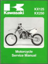 Buy 92-93 Kawasaki KX125 KX250 Service Repair Workshop Manual CD ..- KX 250 125