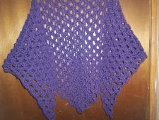 Buy Hand Crocheted Dark Plum Woman's Teens Lacy Scarf Shawl Wrap