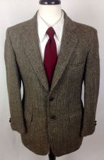 Buy Harris Tweed Blazer Mens 38 R Brown Wool Sport Coat Jacket