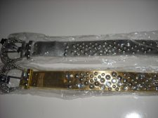 Buy Womans Belt Western Rodeo Punk Crystal bling gold silver U Pick Color