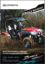 Buy CFMoto Z8 CF800 ZForce 800 EX 4X4 ATV / UTV Service Repair Manual CD