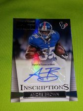 Buy NFL ANDRE BROWN TEXANS 2014 PANINI AUTOGRAPHED ROOKIE MNT