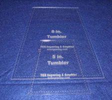"Buy Quilt Templates-2 Piece Tumbler Set 5"" & 8"" w/Seam Allowance - 1/8"" clear"