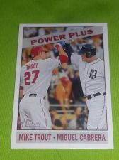 Buy MLB MIKE TROUT-MIGUEL CABRERA SUPERSTARS 2015 TOPPS HERITAGE INSERT #52 GEM MNT