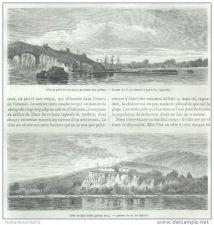 Buy MEXICO - SAN BLAS CLIFFS & HARBOR - 2 engravings from 1862