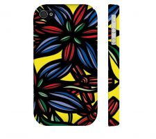 Buy Vankampen Red Blue Iphone 4/4S Apple Phone Case Flowers Botanical