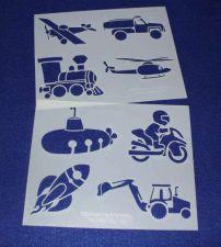 Buy 2 Pc Set -Mylar 14 Mil Children's Stencils B Painting/Crafts/Stencil/Template