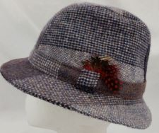 Buy Avoca Collection Vintage Women's Wool Fedora Hat Size M Blue and Gray Complete