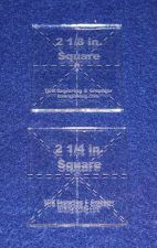 """Buy 2 Pc Square Set ~1/4"""" thick - Quilt Template- No seam- Postage Stamp- Acrylic"""