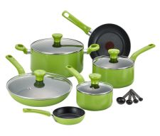 Buy NEW T-fal Excite Green 14-piece Non-stick Cookware Set Oven Safe