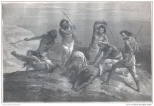 Buy ABYSSINIA (ETHIOPIA) - WOMEN PUNISHED BY MEN - engraving from 1867