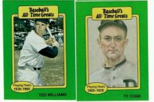 "Buy VINTAGE TED WILLIAMS-TY COBB 1987 HYGRADE ""ALL TIME GREATS"" GD/VG"