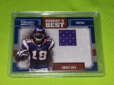 Buy NFL SIDNEY RICE VIKINGS 2010 PANINI GAME WORN Jersey /299 MNT