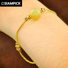 Buy Thai 22k 24k Baht Yellow Gold Plated GP Chain Bead Bangle Bracelet Jewelry B017