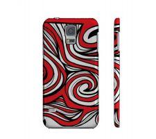 Buy Cholewa Red White Black Samsung Galaxy S5 Phone Case