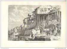 Buy CHINA - CONSTRUCTIONS NEAR HAN RIVER IN FANG-TCHENG - engraving from 1882