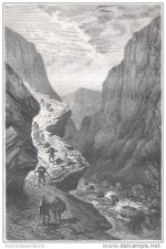 Buy PERU - HUARANCALQUI - engraving from 1875
