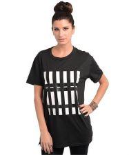 Buy Trendy Women Casual Black Barcode Short Sleeve Shirt S M L