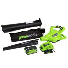 Buy GreenWorks 24322 DigiPro G-MAX 40V Cordless 185MPH Blower/Vac with 4ah batter...