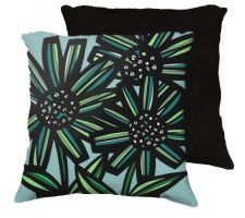 Buy 22x22 Lebaugh Blue Yellow Black Pillow Flowers Floral Botanical Cover Cushion Case Th