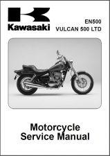 Buy 96-08 Kawasaki Vulcan 500 LTD / EN500 Service Repair Workshop Manual CD