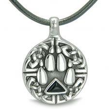 Buy Positive Energy Secret Amulet Crystal Point Lucky Charm Simulated Black Onyx Pendant