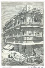 Buy INDIA - PALACE OF SETHS IN AJMIR - engraving from 1872