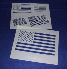 Buy 2 Piece Set -Mylar 14 Mil US Flag Stencils Painting/Crafts/Stencil/Template