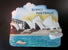 Buy 3D SCULPTURE FRIDGE MAGNET MEMORIAL SYDNEY AUSTRALIA COLLECTIBLE SOUVENIR GIFT