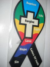 Buy Christian Colors Of Faith Ribbon Magnet 8 inch tall strong car magnet