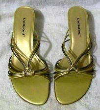 Buy EUC Women's Gold Unlisted Mule Shoes
