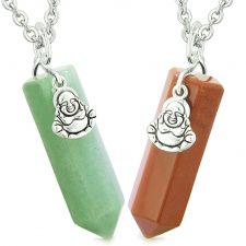 Buy Happy Buddha Love Couples or Best Friends Crystal Points Amulets Green Quartz Red Jas