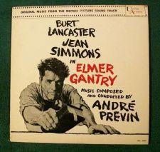 Buy ELMER GANTRY ~ 1960 Motion Picture Soundtrack LP Burt Lancaster