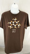 Buy Womens Caffiene Molecole Brown Coffee Lovers Tee Shirt Size M (13)