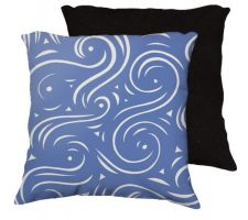 Buy Guenthner 18x18 Blue White Black Back Cushion Case Throw Pillow Cover 631 Art