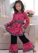 Buy Cranberry Floral And Quatrefoil Boutique Outfit