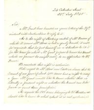 Buy 1840 LONDON LETTER ESHAM HOUSE To HENRY EARLE ANDOVER