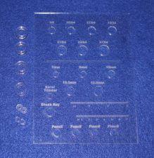 "Buy Laser Cut Drill Bit Storage Template - Acrylic - 1/8"" -Pen Turner version"