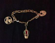 Buy Vintage 1980s Monet Goldtone Link Charm Bracelet FREE SHIPPING