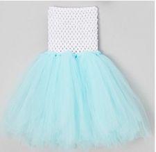 Buy Frozen Aqua And White Tutu Dress