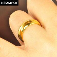 Buy Wedding Ring Plain 22k 24k Size 5 7 Thai Baht Yellow Gold GP Plain Jewelry R010