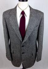 Buy Harris Tweed Blazer Mens 40 L Gray Wool Sport Coat Jacket