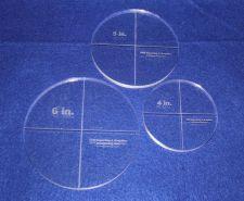 "Buy 3 Piece Circle Set - NO seam 4"", 5"", 6"" ~ 3/8"" Thick - Long Arm"