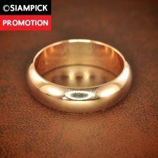 Buy Thai Baht 18k 22k Plain Wedding Ring Size 5 6 7 Pink Gold GP Engage Jewelry R003