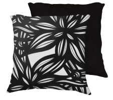 Buy Morin 18x18 Black White Pillow Flowers Floral Botanical Cover Cushion Case Throw Pill