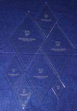 "Buy Quilt Templates-60 Degree Diamond Set-2,3,4,5,6,7,8.- 7 Piece Set-Acrylic ~1/4"""